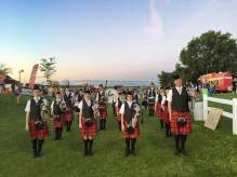 Formed up for the Glengarry Highland Games Tattoo on Friday night. Smart looking bunch!